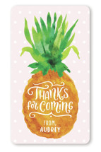 This is a pink kids sticker by Laura Bolter Design called Be A Pineapple with standard printing on uncoated sticker paper in sticker.