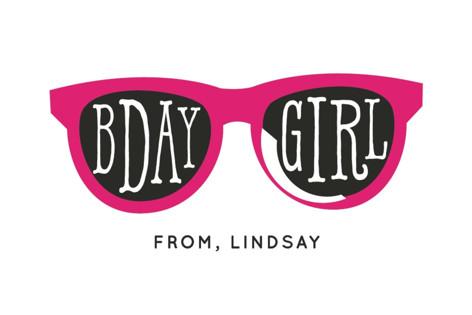 Birthday Girl Shades Children's Birthday Party Stickers