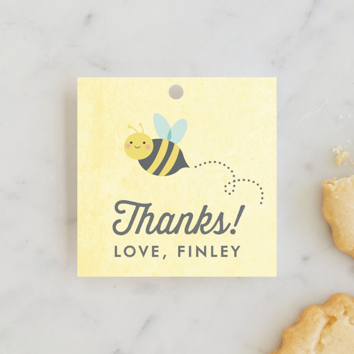 """Buzzing Beehive"" - Children's Birthday Party Favor Tags in Daisy by Karidy Walker."