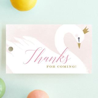 sweet swan princess Children's Birthday Party Favor Tags
