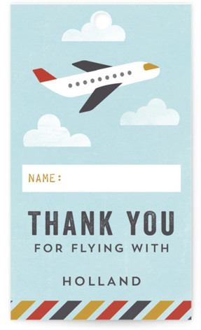 Flying High Children's Birthday Party Favor Tags