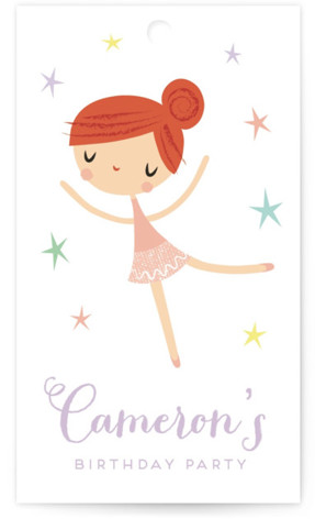 Tiny Dancer Children's Birthday Party Favor Tags