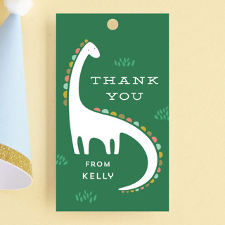 Dinotastic Children's Birthday Party Favor Tags