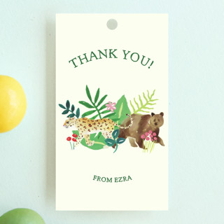 Our Cub Is One Children's Birthday Party Favor Tags