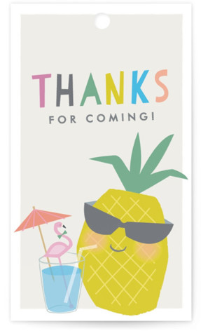 Party like a pineapple Children's Birthday Party Favor Tags