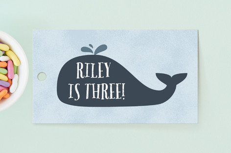 Whale Fun Children's Birthday Party Favor Tags