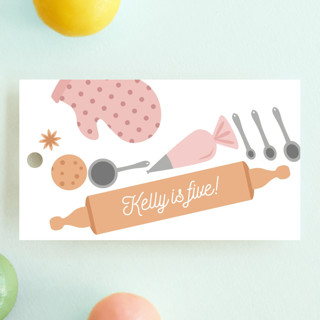 Fun Baking Children's Birthday Party Favor Tags