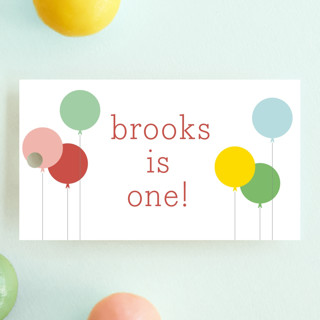 Balloon Bunch Children's Birthday Party Favor Tags
