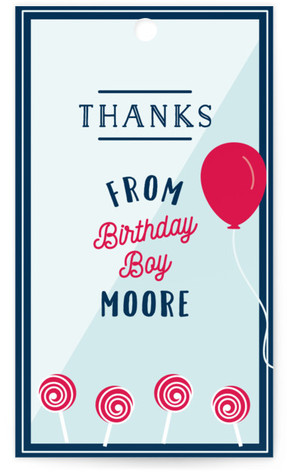 Candy Store Children's Birthday Party Favor Tags