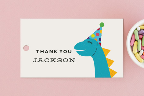 Dino-Mite Day Children's Birthday Party Favor Tags