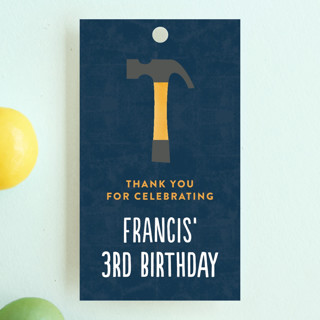 Tool Pocket Children's Birthday Party Favor Tags