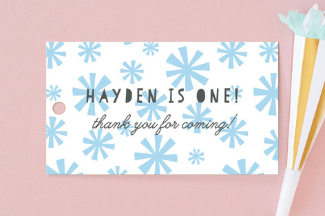 Bursts Children's Birthday Party Favor Tags