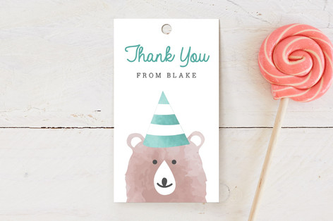 Woodland Children's Birthday Party Favor Tags