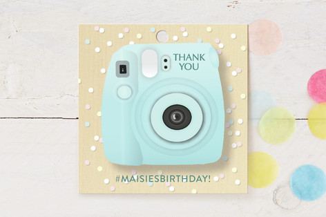Insta Party! Children's Birthday Party Favor Tags