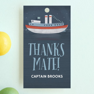 Ahoy Mates Children's Birthday Party Favor Tags