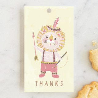 Lion wild one Children's Birthday Party Favor Tags
