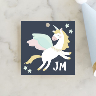 Magical Pegasus Children's Birthday Party Favor Tags