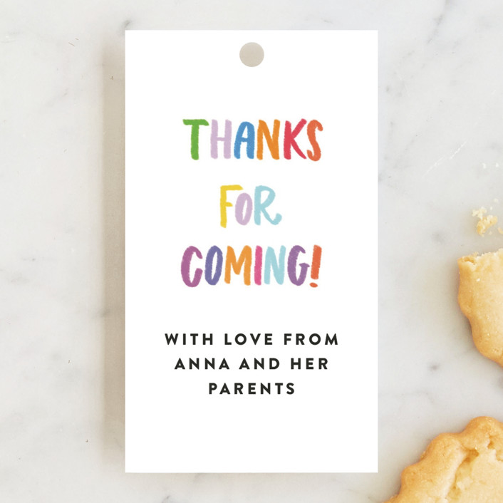 """""""Confetti Sprinkle"""" - Children's Birthday Party Favor Tags in Gumdrops by Up Up Creative."""