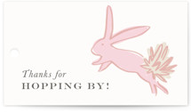 This is a pink kids gift tag by Julie Murray called Some Bunny with standard printing on signature in sticker.
