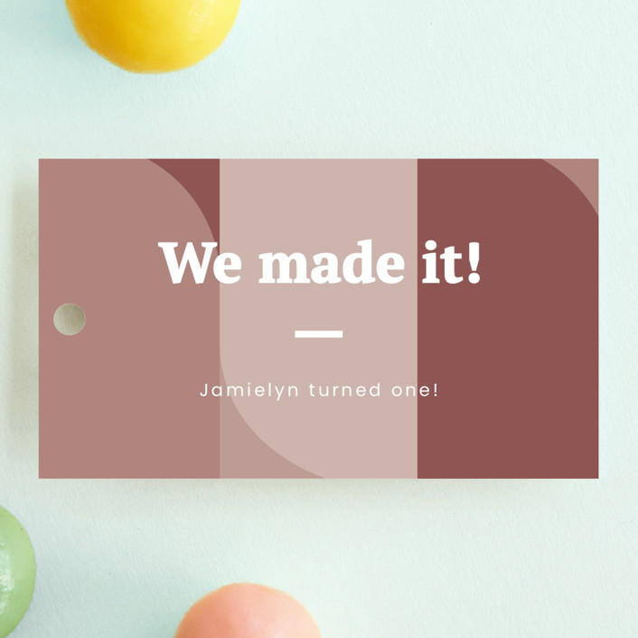 """""""Made it"""" - Children's Birthday Party Favor Tags in Blush by Adelyn T.."""