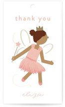 This is a pink kids gift tag by JeAnna Casper called Fairyland with standard printing on signature in sticker.