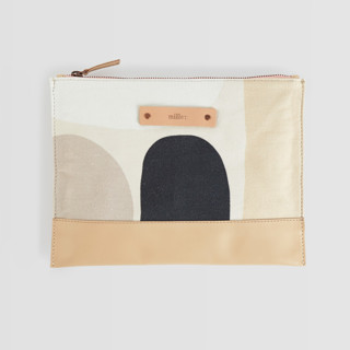 This is a grey hand clutch bag by Iveta Angelova called Dreamland.