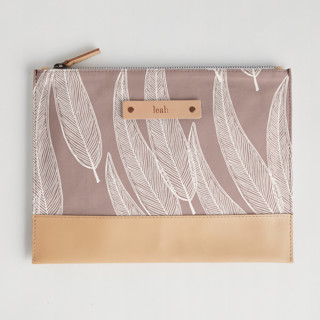 This is a purple hand clutch bag by Katharine Watson called Sketched Willow in standard.