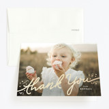 Foil-Pressed Children's Birthday Party Thank You Cards