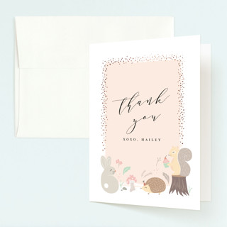 rinaldini Foil-Pressed Children's Birthday Party Thank You Cards