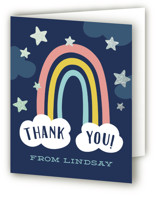 This is a blue thank you card by Laura Hankins called Magical with foil-pressed printing on strathmore in standard.