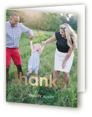 Colorful One Foil-Pressed Children's Birthday Party Thank You Cards