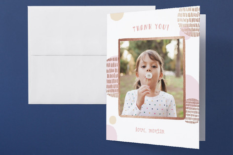 Birthday Wish Foil-Pressed Children's Birthday Party Thank You Cards