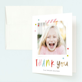 Confetti bash Foil-Pressed Children's Birthday Party Thank You Cards