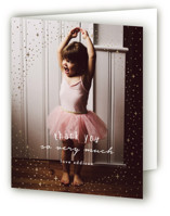 This is a gold thank you card by Angela Garrick called pixie with foil-pressed printing on strathmore in standard.