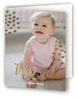 This is a white thank you card by Christie Garcia called Wild One! with foil-pressed printing on strathmore in standard.