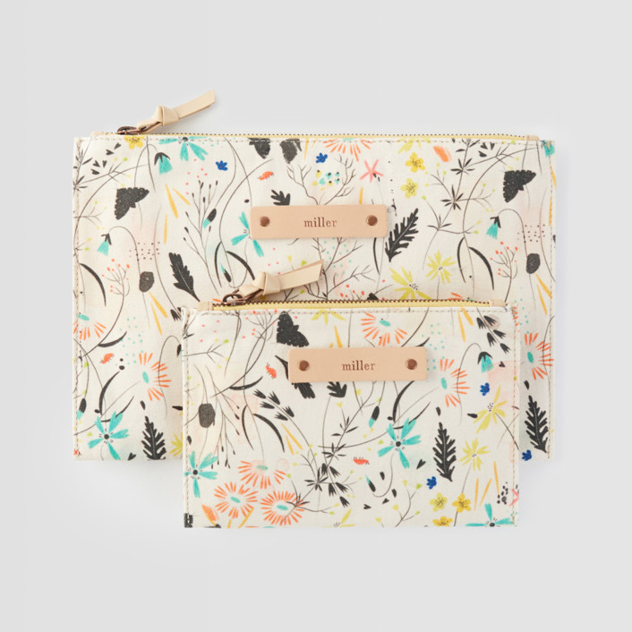 Wildflower Meadow Catch-All Fabric Pouch Set