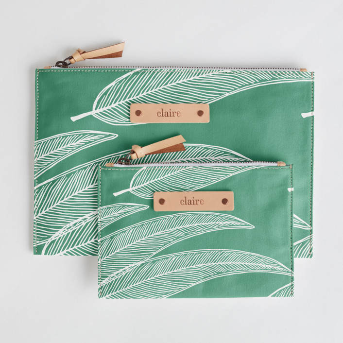 Sketched Willow Catch-All Pouch Set, $38