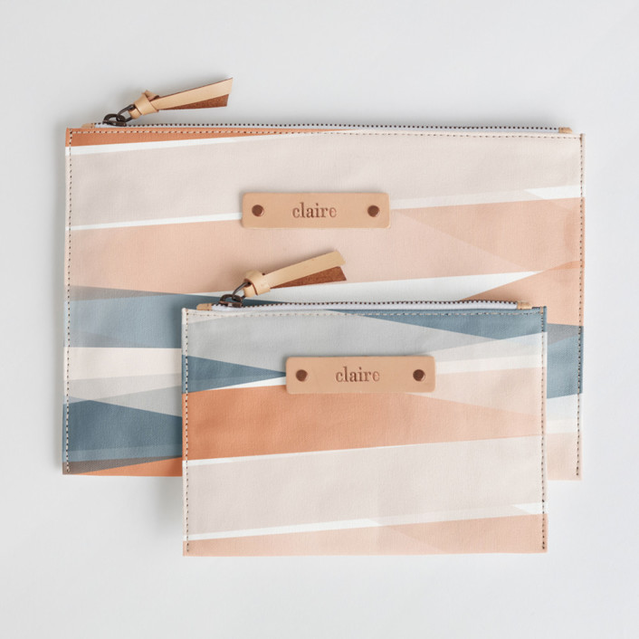 Pastel Beach Catch-All Fabric Pouch Set
