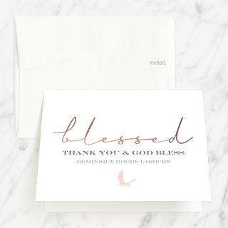 blessed confirmation confirmation thank you cards minted