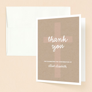 Sweet Cross Confirmation Thank You Cards