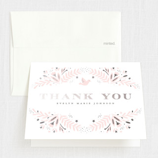 Little One Foil-Pressed Baptism and Christening Thank You Cards