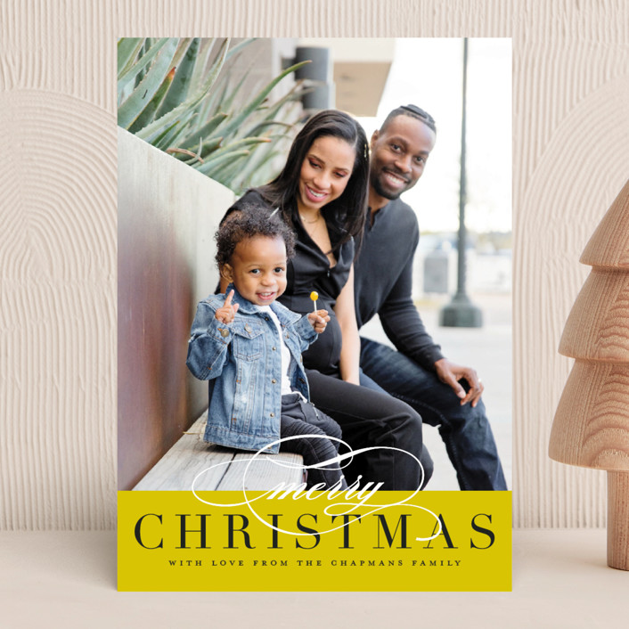 """Simple Elegance"" - Christmas Photo Cards in Fog by Jessica Williams."