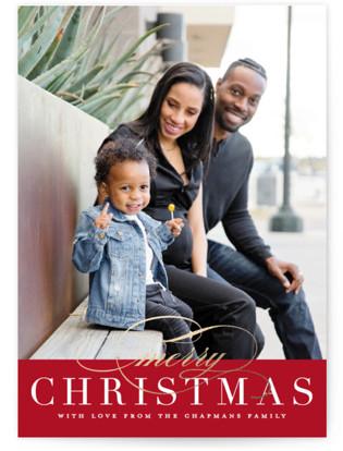 Simple Elegance Christmas Photo Cards