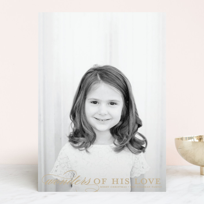 """""""Wonders"""" - Christmas Photo Cards in Coffee by Jessica Williams."""