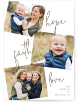 This is a brown photo christmas card by Pixel and Hank called All Three with standard printing on smooth signature in standard.
