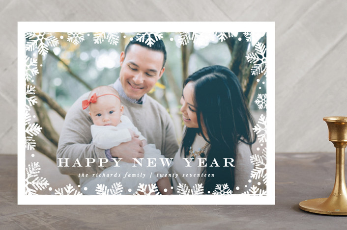 """Frosted"" - Christmas Photo Cards in Snowflake by Lauren Chism."