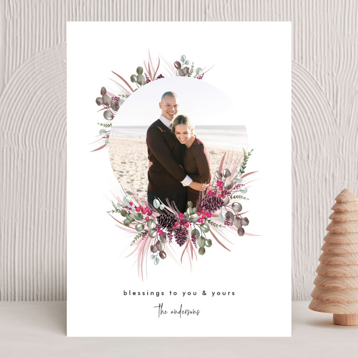 """Trimming Together"" - Christmas Photo Cards in Rouge by Nicole Whiddon."
