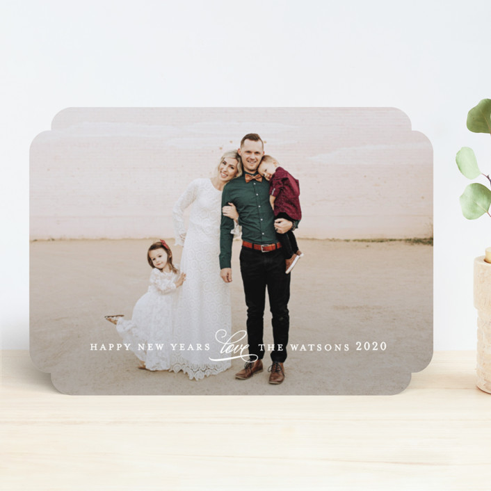 """Understated"" - Christmas Photo Cards in Winter by Jennifer Wick."