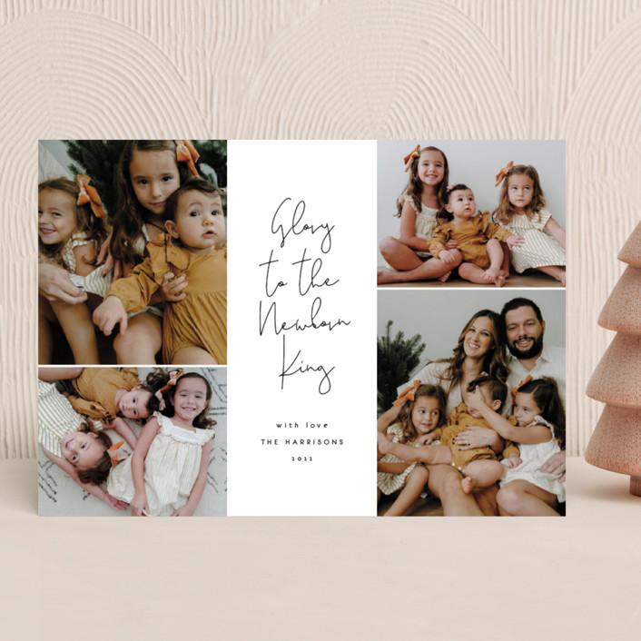 """The Newborn King"" - Christmas Photo Cards in Midnight by Kann Orasie."
