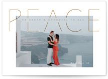 This is a yellow photo christmas card by Kann Orasie called Peace is good with standard printing on recycled smooth signature in standard.